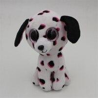 15cm Ty PONIES Beanie Boos Yokai Kunai Big Eyes Plush Stuffed Doll Toys Black And White