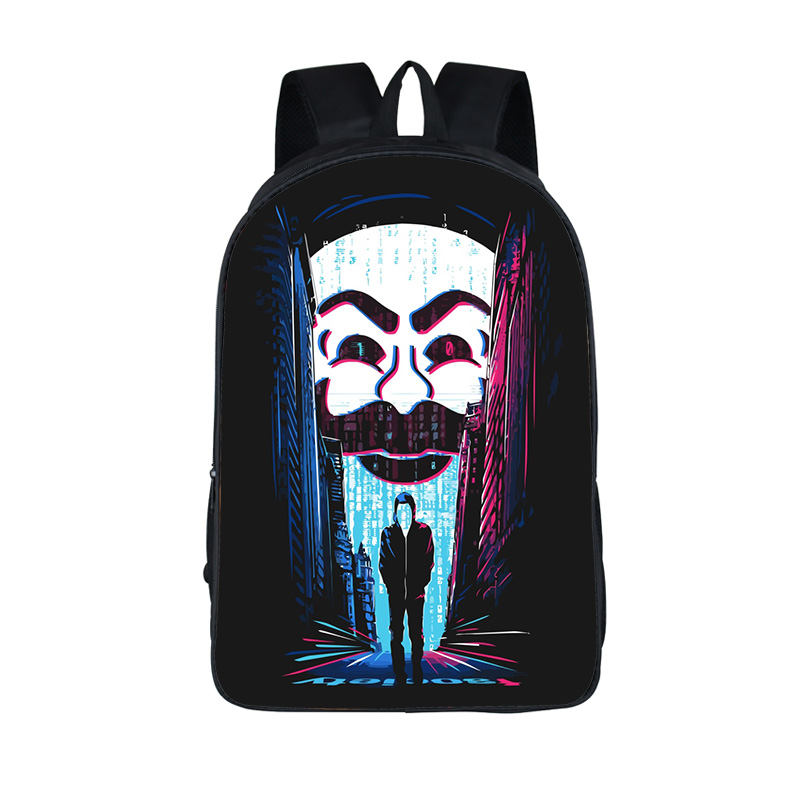 3D Printing Mr. Robot Backpacks Mr robot Women Men's Backpack School Bags For Teenage Fsociety Mask Student Bag Travel Backpack пластинки виниловые mr oizo