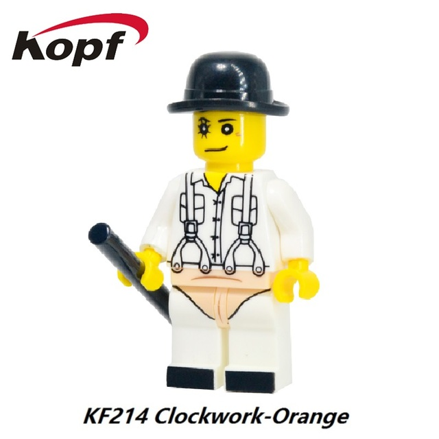 Bloques de construcción de hockey jason máscara de guy clockwork orange pesadillas sally blo exorcista el tema de la película de horror de choque kids toy kf214