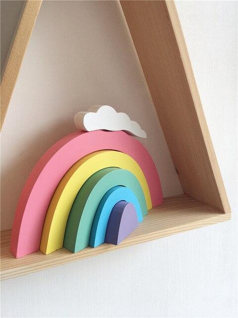 Nordic Wooden Rainbow Stackable Rainbow Rainbow Nursery Decor Rainbow Baby Gift Scandinavian Decor For Baby Kids Room