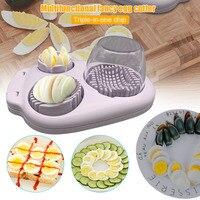 3 em 1 multi-fervido cortador de fatias de ovo multifunções aço inoxidável slicer wedger dicer ferramenta yu-casa