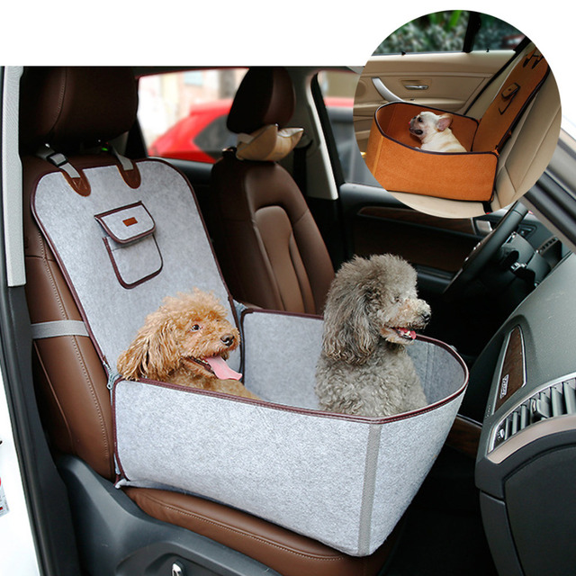 2 in 1 Pet Booster Seat Car Carrier Dog Seat Carry Storage Bag for ...