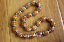 hot deal buy bd046 handmade tibetan silver resin beeswax loose beads nepal 18mm round diy beads wholesale tibet nepal beads 4 pcs lot