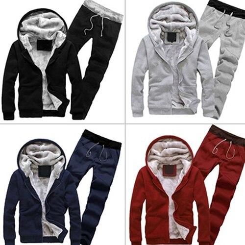 Noir gris Rembourré Twinset Pcs Top Épais Zipper dark rouge 2 S Blue Pantalon Survêtement Hommes OB1xvnCq