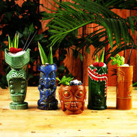 Hawaii Tiki Mugs Cocktail Cup Beer Beverage Mug Wine Mug Ceramic Ku.Ku.Kauioo Mug