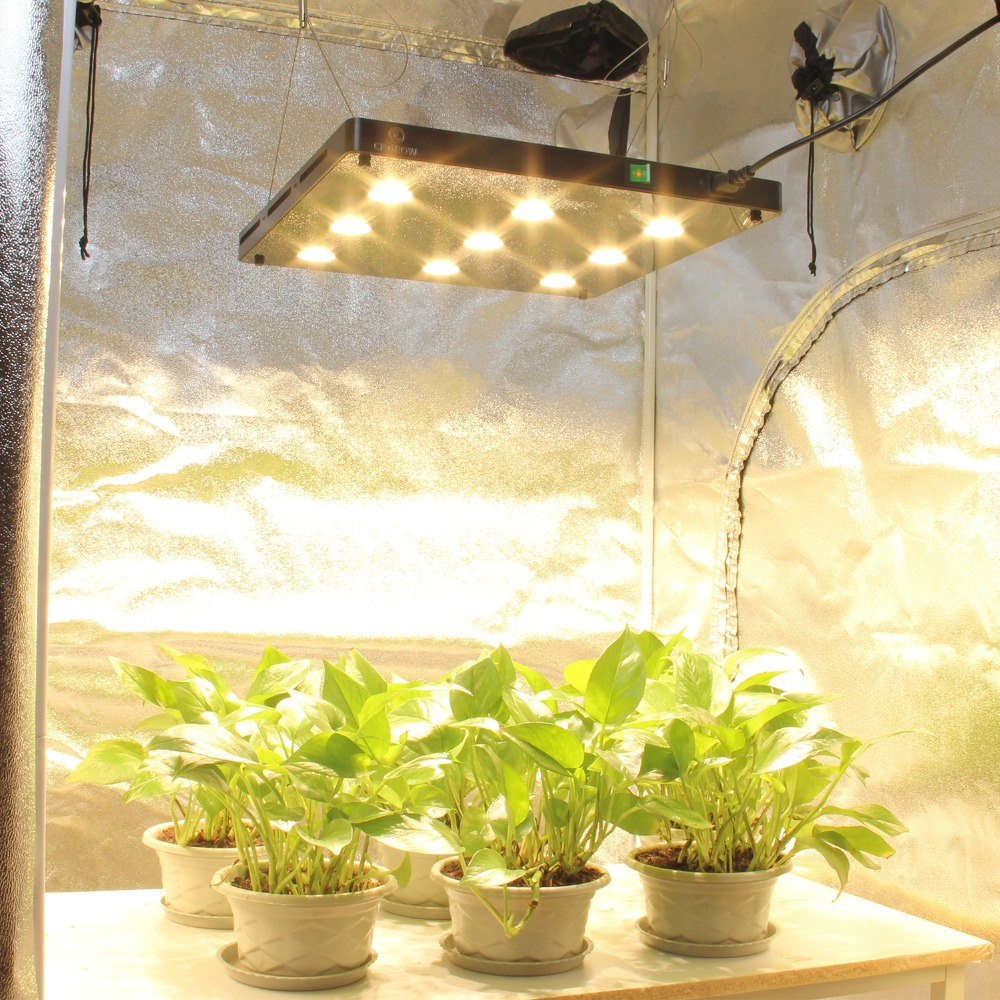 Ultra-thin COB LED Plant Grow Light Full Spectrum BlackSun S9 LED Panel Lamp For Indoor Hydroponic Plants All Growth Stage