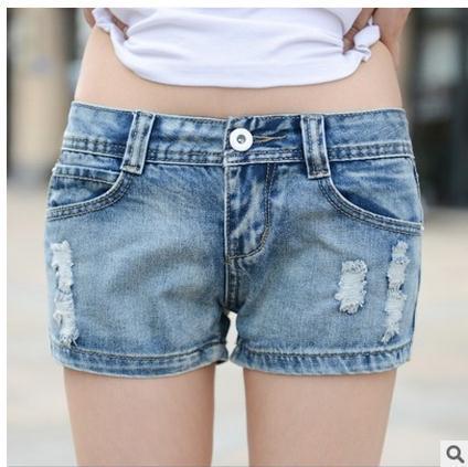2016 Brand New Cowboy Retro Feminino Coreano Shorts Jeans Mulheres Casuais Curto Light Blue Jeans Verão Curto Pantalon Femme J1327