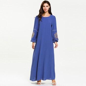 1cef14a28e Verano Abaya Dubai caftán islámica Kaftan vestido musulmán las mujeres  Ramadán Elbise Eid Vestidos túnica Vestidos Arabes Elegantes Sukienki
