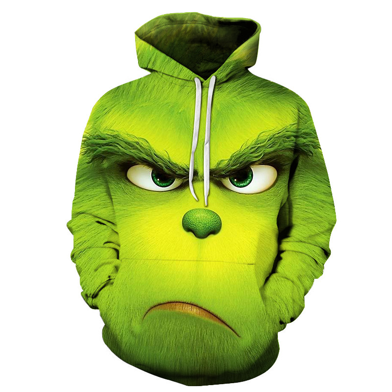 2019 Hot Sale Movie The Grinch 3D printed men's and women's hooded sweatshirt Fashion trend youth cool men's hooded hoodie