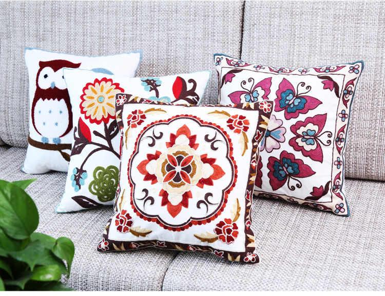 Роскошные европейские подушки с вышивкой декоративный диван с подушками декоративные подушки