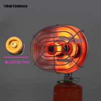 Double Burner Heating Stove Infrared Ray Heater Camping Warmer Heating Gas Stove For Winter Camping Outdoor