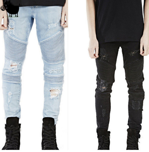 Man Si Tun 2017 Destroyed Mens Slim Denim Straight Biker Skinny Jeans Men Ripped Jeans  Represent Clothing Designer Pants