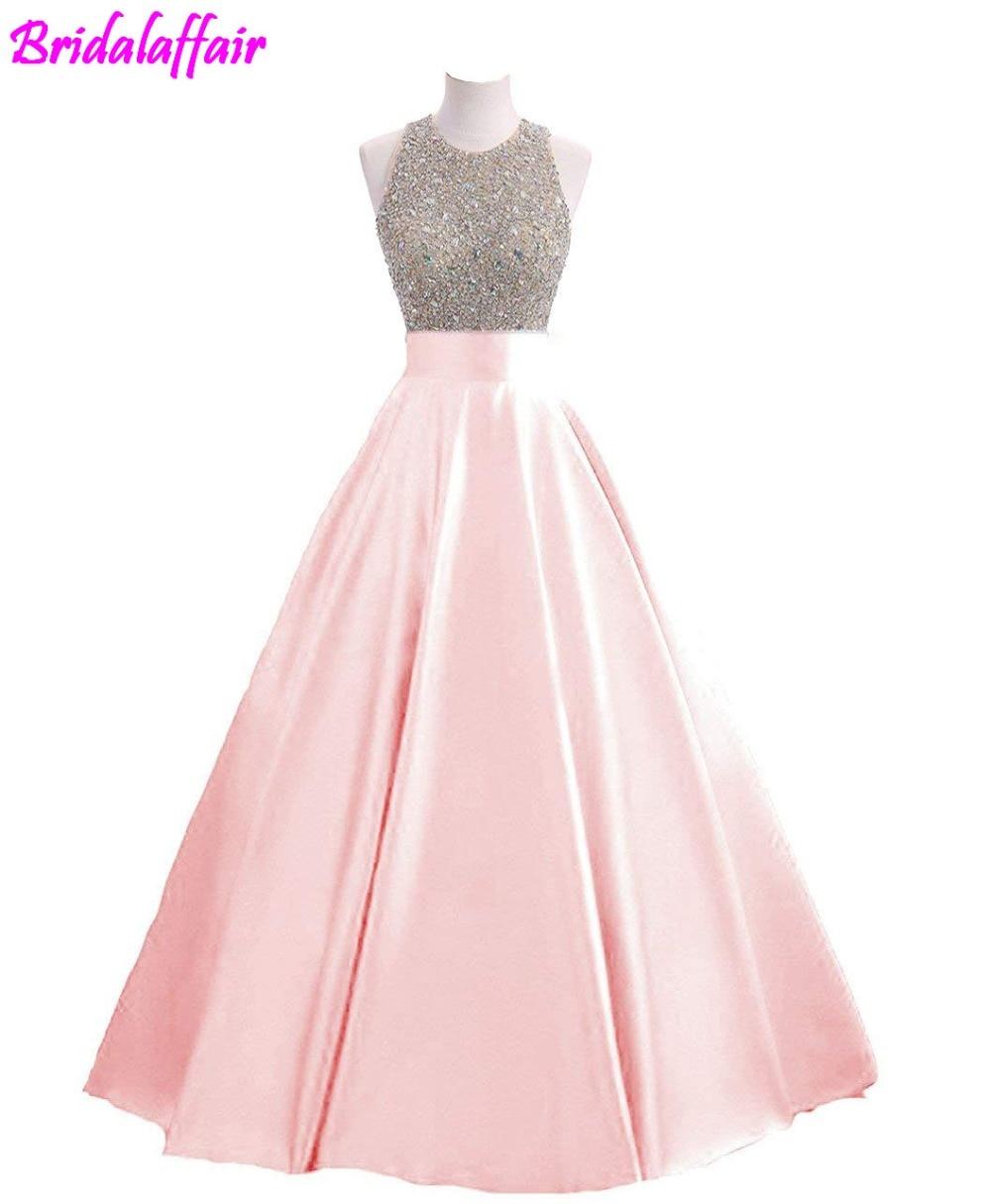 Paillettes pour femmes Keyhole retour robe de bal perlée bal robes formelles longue robe de bal robe formelle robe de soirée 2018 robe - 6