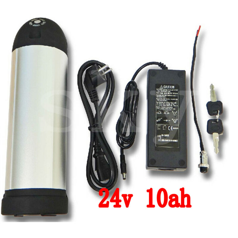 350W 24V 10AH Rechargeable Li-ion Electric Bicycle Bottle kettle Battery with 15A BMS 29.4V 2A charger TNT shipping liitokala 7s5p new victory 24v 10ah lithium battery electric bicycle 18650 24v 29 4v li ion battery no contains charger