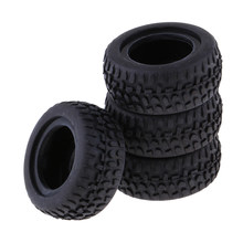 4Pcs Rubber RC Tire Racing Car Road Tyre For 1:24 Vehicle Car Model(China)