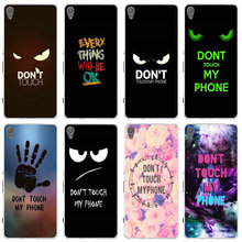 Don't Touch My Phone Print Soft Silicone TPU Cases Cover for Sony Xperia E3 E5 T3 M2 M4 M5 XA XZ Z Z1 Z2 Z3 Z4 Z5 Compact