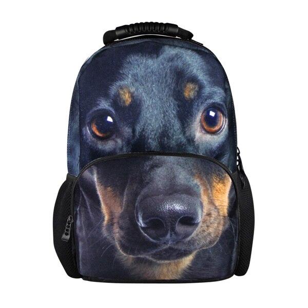 16'' free shipping animal backpacks for men 2015 new fashion pug dog back packs women school backpacks kids gift backpack childs