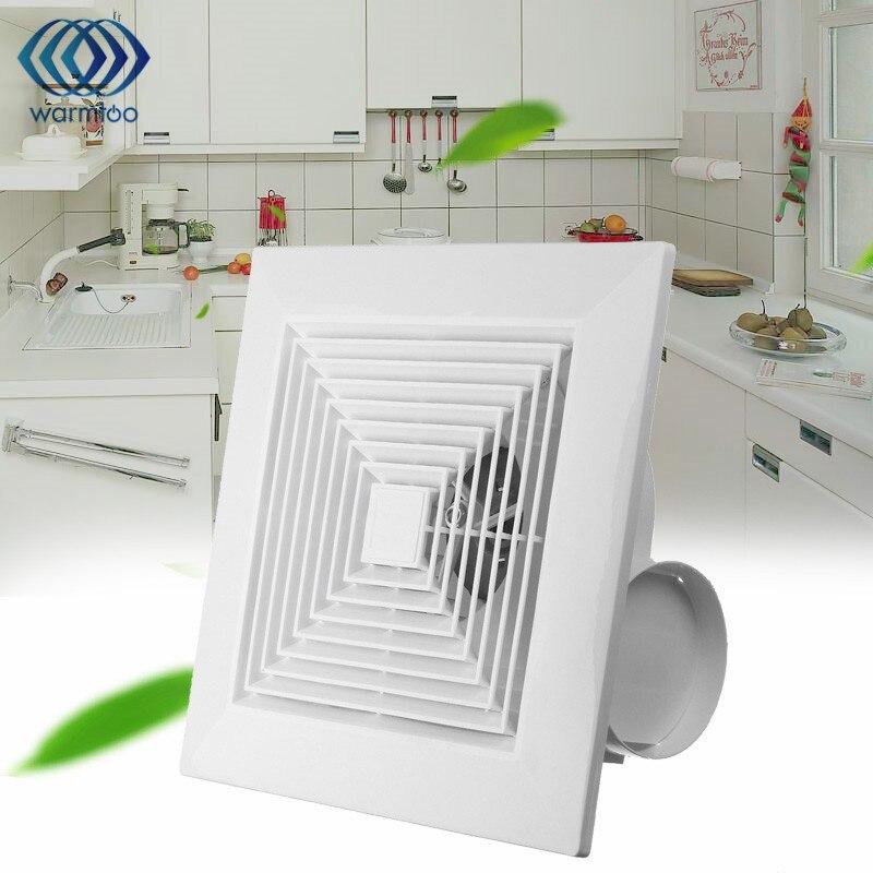 38W 8 inch Kitchen Bathroom Window Ceiling Wall Mount Ventilation Exhaust Fan Fan Hole Size 245 x 245mm 220V US Plug