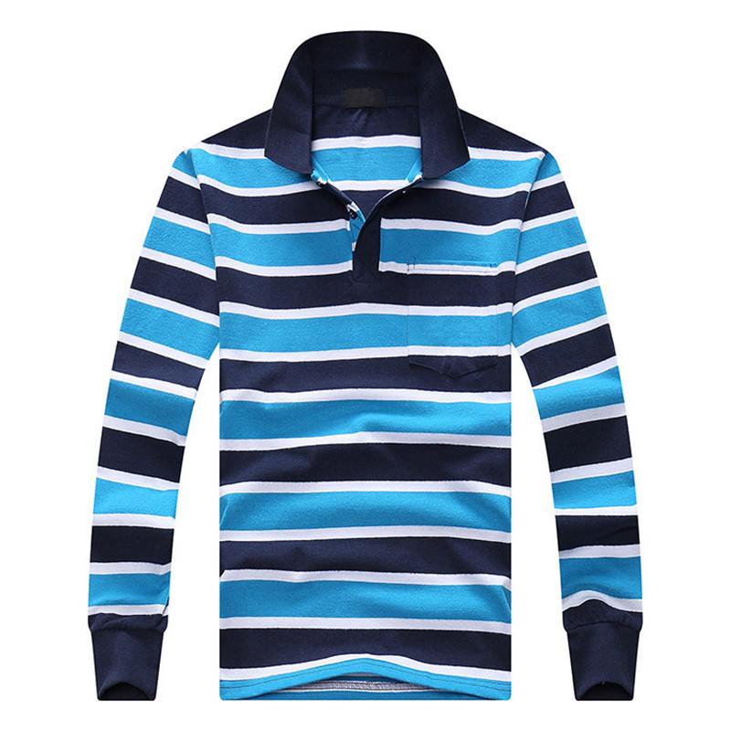 Striped Polo shirts For Men 2016 Autumn New Long sleeve ...