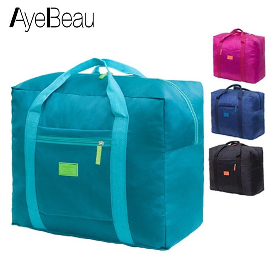 Foldable Nylon Duffel Weekend Duffle Hand Luggage Travel Bag Women Organizer Female For Overnight Weekender Large Sac De Voyage