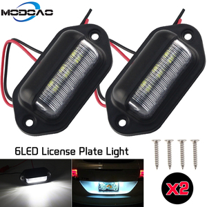 1/2Pcs 12V LED Number License Plate Light for Car Boats Motorcycle Automotive Aircraft RV Truck Trailer Exterior Lamps