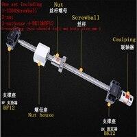 Ballscrew SFU1605 250mm 300 350 400 450 500 600 650 700 900 1000mm Ballnut Ball Screw RM 1605 End Machined CNC