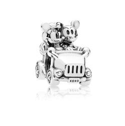 2018 New Authentic 925 Silver MICKEY AND MINNIE VINTAGE CAR CHARM Fit Original Pandora Bracelet Bead DIY Jewelry