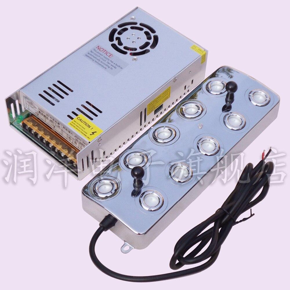 7 KG/h atomiseur à ultrasons 10 tête humidificateur industriel avec interrupteur d'alimentation humidificateur d'air à ultrasons fontaine brumisateur