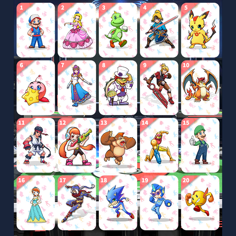 20PCS Game Collection NFC Cards For Super Mario Smash Ball Bros Brother Ultimate For NS Switch