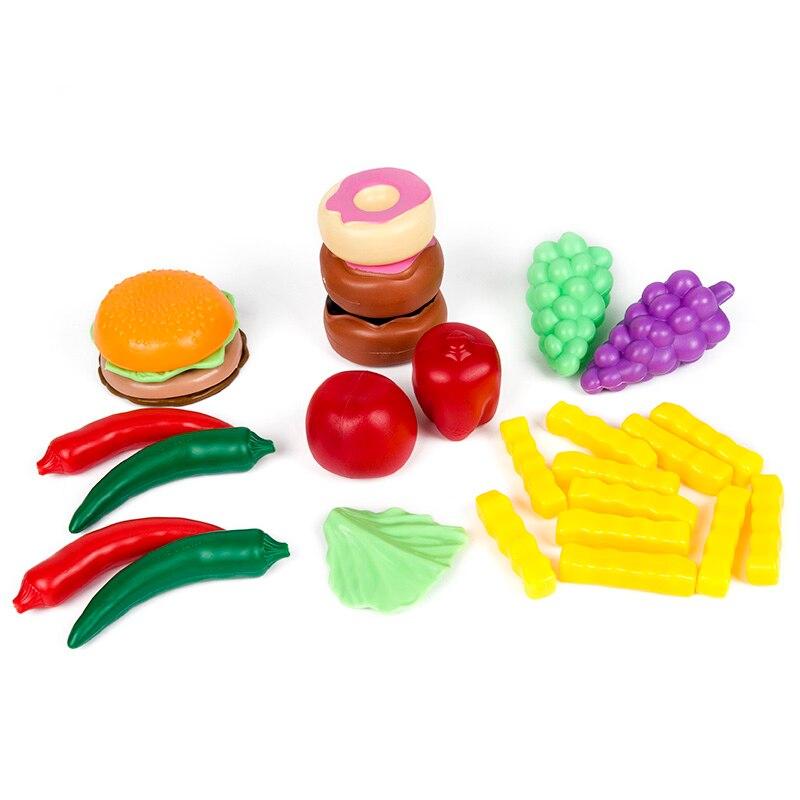 140Pcs Κοπή Φρούτα Λαχανικά Προσποιούν - Παιχνίδι ρόλων - Φωτογραφία 3