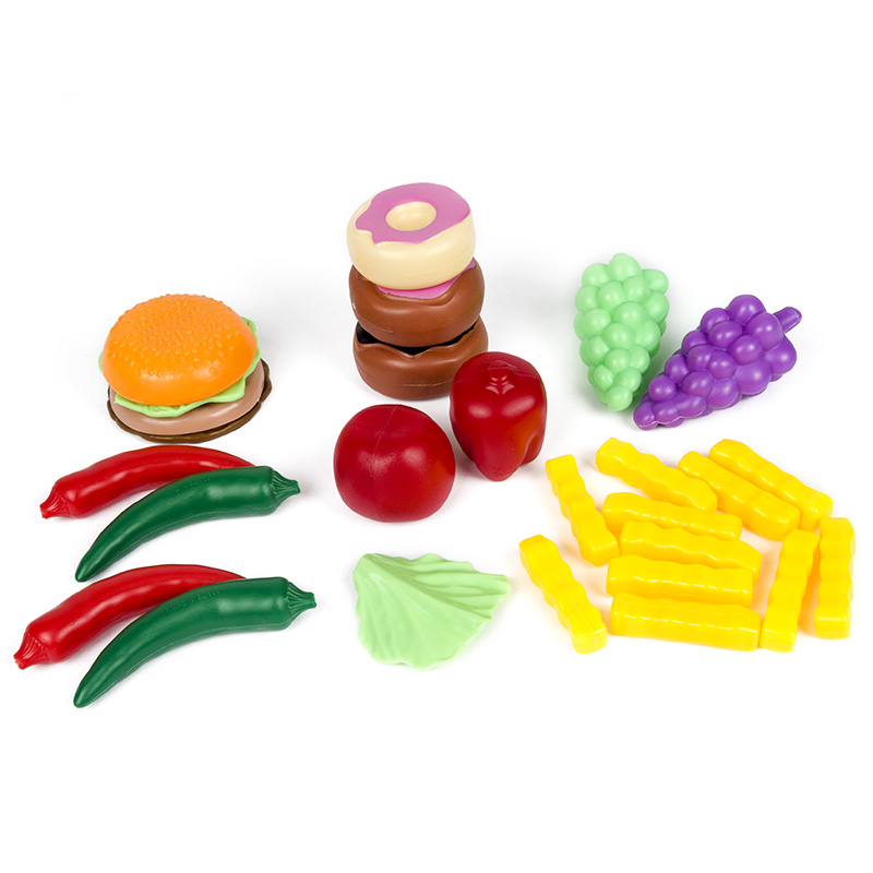 Image 3 - 140Pcs Kids Cutting Fruits Vegetables Pretend Play Kitchen Toys Miniature Safety Food Sets Educational Classic Toy for Children-in Kitchen Toys from Toys & Hobbies