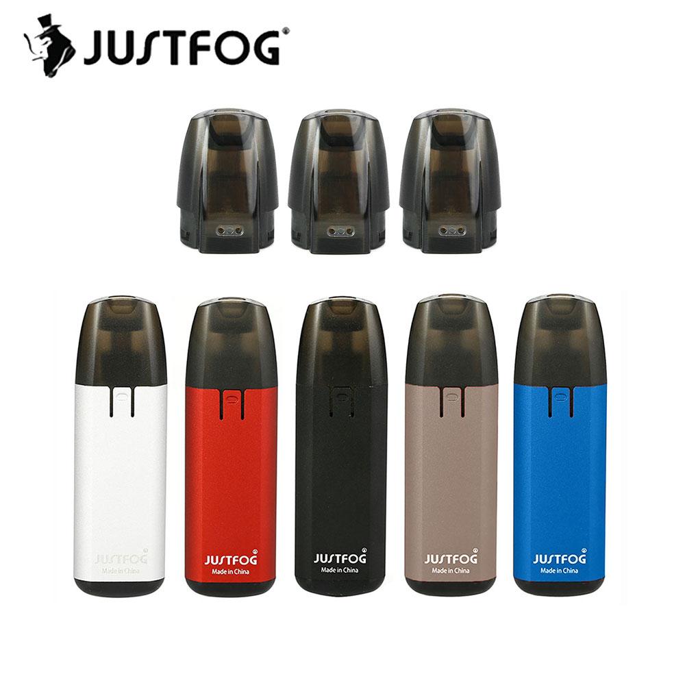 D'origine 370 mah JUSTFOG MINIFIT Starter Kit avec 1.5 ml Pod Cartouche 1.6ohm Bobine et Tension Constante Sortie 370 mah batterie E-cig