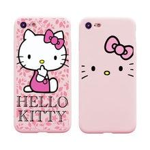 e26441a70 Cute Cartoon Japan Hello Kitty Soft Case for iPhone 6 6s Plus 7 7Plus 8  8Plus