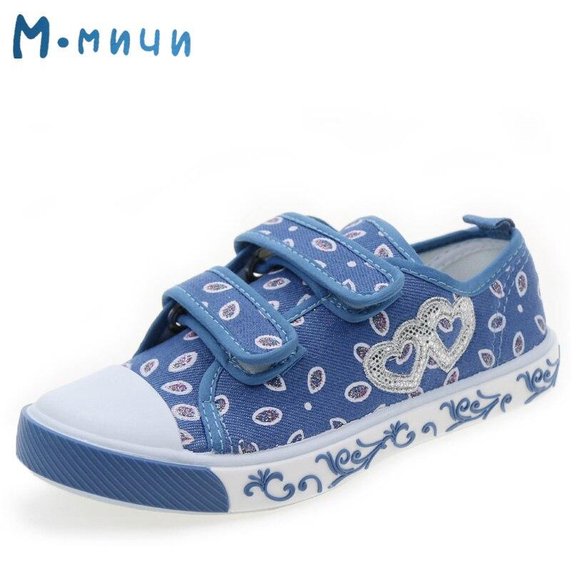 MMNUN 2018 новый большой детская парусиновая обувь для детей парусиновая обувь для девочек плоские кроссовки Низкий Повседневное ...