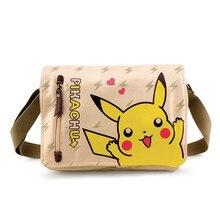 Pocket Monster Pokemon Пикачу Kawaii Fairy Tail Косплей Холст Crossbody сумки для Женщин Школьные Сумки Рюкзаки