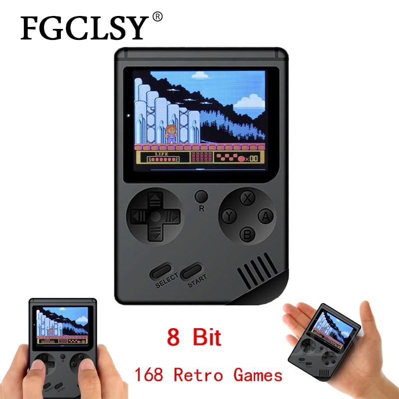 FGCLSY 2019 Video Spiel Konsole 8 Bit Retro Mini Tasche Handheld-Spiel-Player Eingebaute 168 Klassische Spiele Nostalgischen spiel konsole