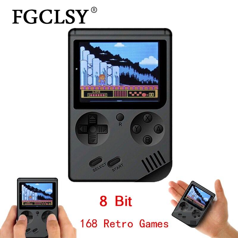 Fgclsy 2019 console de jogos de vídeo 8 bits retro mini bolso handheld jogador do jogo embutido 168 jogos clássicos nostálgico console de jogo