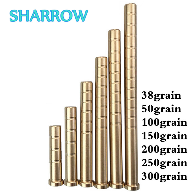 12pcs Arrow Insert Brass Copper Base Fit ID6.2mm OD7.6mm Arrow Shaft For Arrow Outdoor Shooting Training Archery Accessories