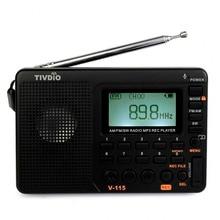2 pcs TIVDIO V-115 FM/AM/SW Radio Multibande Radio Récepteur Bass Sound MP3 Lecteur Enregistreur Portable Radio avec le Sommeil Minuterie F9205