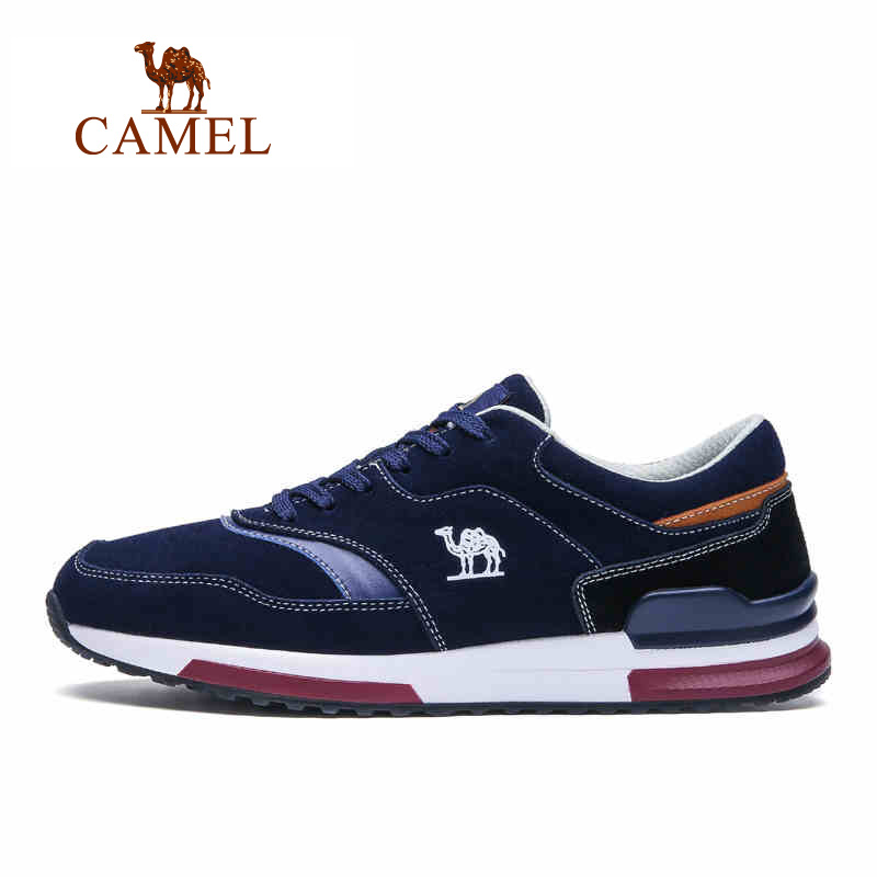 Camel outdoor sport shoes Men breathable shoes shock absorption wear-resistant slip-resistant sports walking shoes A632336240 long jump professional breathable spike running shoe male slip resistant wear resistant sport shoes men female high elastic plus