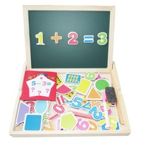 DIY Multifunctional Educational Toys Digital Numbers Wooden Magnetic Jigsaw Puzzle Kids Toys Baby S Erasable Drawing