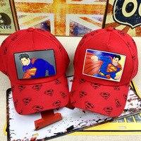 Janvancy Superman Niños CAPS Gorras de béisbol SnapBack Cool niños de dibujos animados niño Niñas niños 3-8 edades tamaño ajustable sombreros