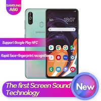 "Samsung galaxy a60 SM-A6060 6.3 ""tela cheia 2340*1080 android 9.0 octa núcleo apoio nfc 32mp + 8mp 5mp 3500 mah face + impressão digital id"