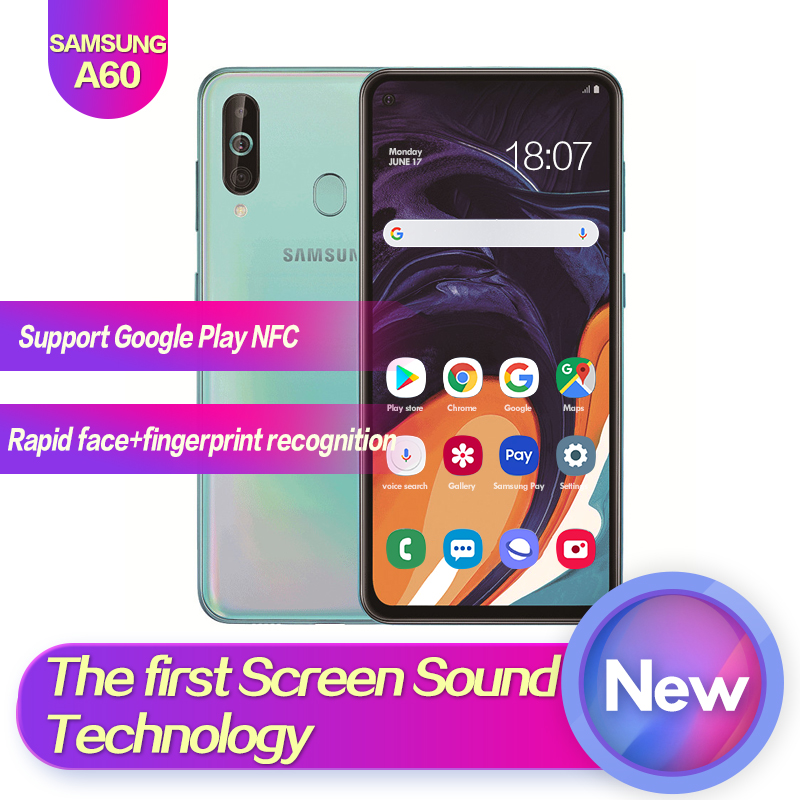 Samsung Galaxy A60 SM-A6060 6.3Full Screen 2340*1080 Android 9.0 Octa Core Support NFC 32MP+8MP+5MP 3500mAh Face+Fingerprint ID image
