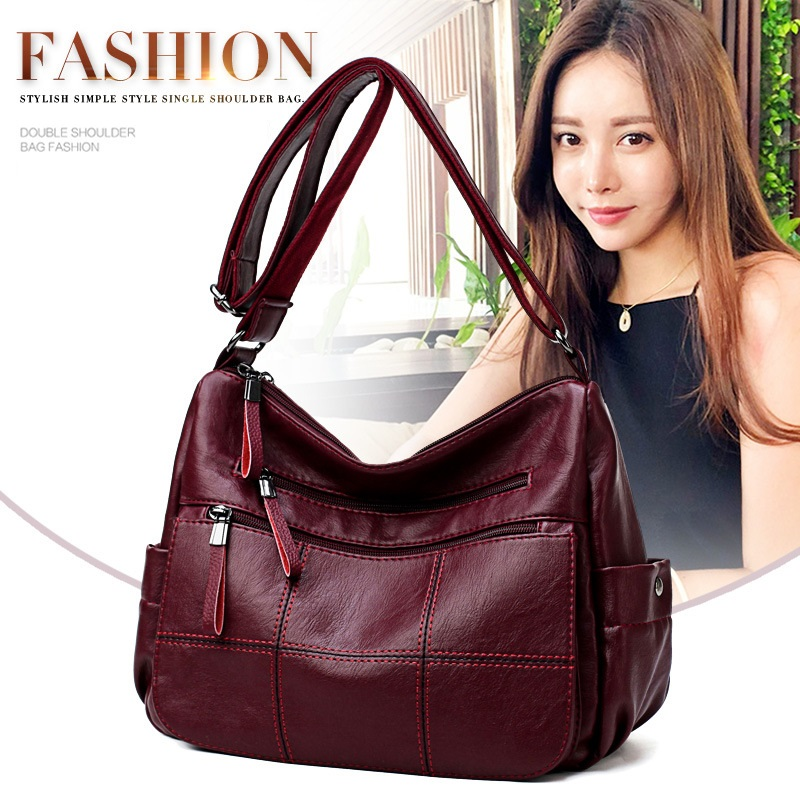 Women Leather Handbags Women Vintage Messenger Bags Designer Crossbody Bag Women Tote Shoulder Bag Top-handle Bags