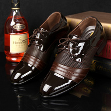 Derby shoes men leather shoes cheap big size 38-47 patchwork lace up 2017 flat shoes dress PU breathable chaussure homme