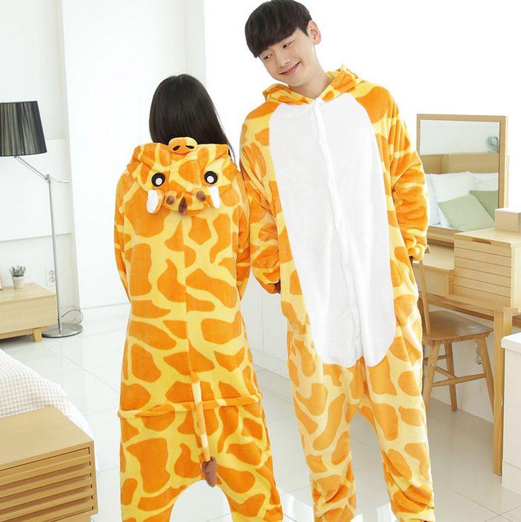 dfb7a35b39 Adulto unisex pijamas animal pijamas mujeres invierno Little Deer manga  completa con capucha Conjuntos de pijama mujeres pijama