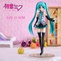 Anime Vocaloid Hatsune Miku PVC Figura de Acción de Colección Modelo de Juguete 21.5 CM KT422