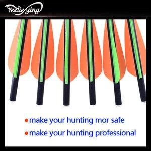 Image 5 - 24 adet 13/16/18/20 inç karbon ok turuncu yeşil tüy değiştirilebilir ok açık öfke avcılık olimpik yay okçuluk