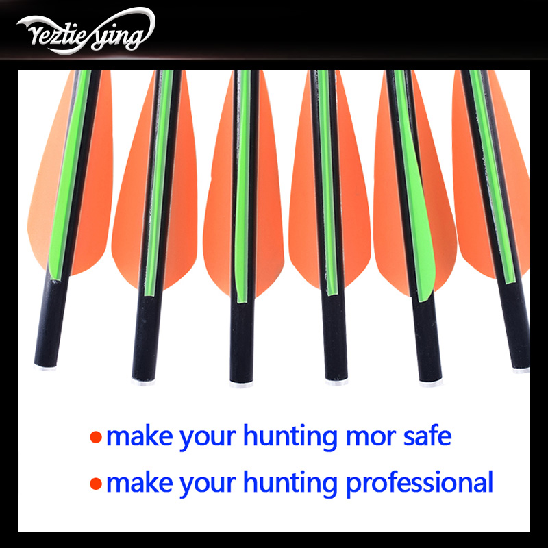 Image 5 - 24PCS 13/16/18/20 Inch Carbon Arrow Orange Green Feather Replaceable Arrow Outdoor Anger Hunting Recurve Bow Archery-in Bow & Arrow from Sports & Entertainment